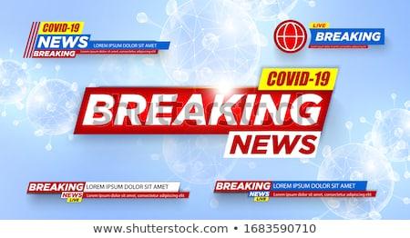 Stock photo: covid-19 coronavirus latest news banner concept design