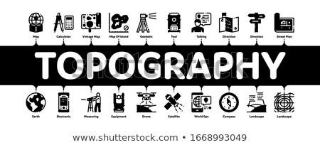 топография исследований минимальный баннер вектора Сток-фото © pikepicture