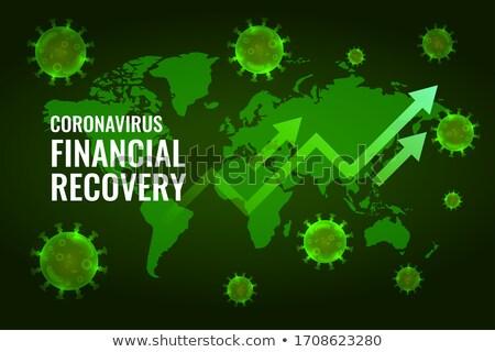 financial economy recovery after coronavirus impact design Stock photo © SArts