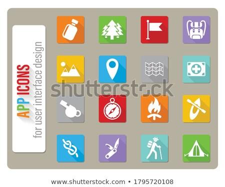 Dzień web ikony użytkownik interfejs projektu Zdjęcia stock © ayaxmr