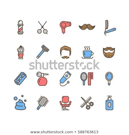 barbershop color icon set Stock photo © ayaxmr