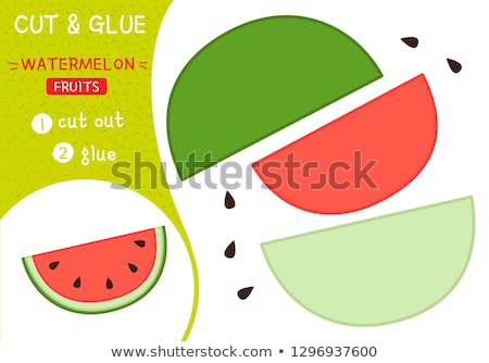 Cut and glue. Simple kid application with Watermelon Stock photo © natali_brill