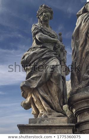 Detail sculptuur brug Praag Tsjechische Republiek kopiëren Stockfoto © boggy