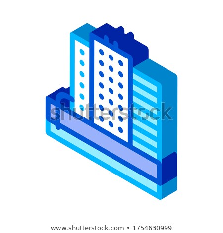 Water Treatment Tank And Offtake Tube isometric icon vector illustration Stock photo © pikepicture