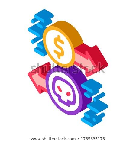 Fizetés hacker szolgáltatások izometrikus ikon vektor Stock fotó © pikepicture