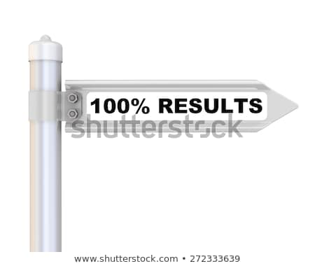 100% Results Road Sign Stock photo © kbuntu