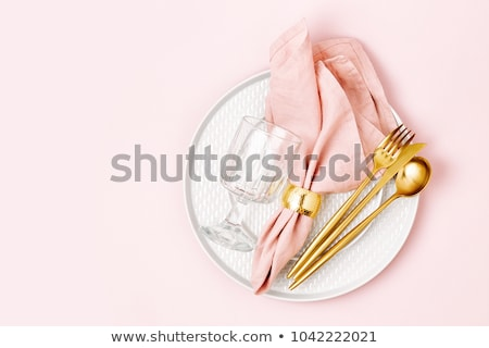 Table setting in pink Stock photo © Hofmeester