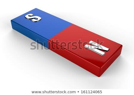 3D 磁石 赤 青 白 階 ストックフォト © dariusl