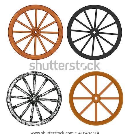 Ancient carriage wheel Stock photo © bbbar