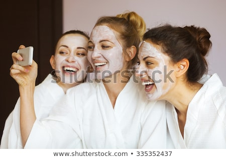 Stock photo: Smiling woman day spa