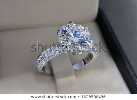 trouwring · diamant · goud · ring · witte · diamanten - stockfoto © nicemonkey
