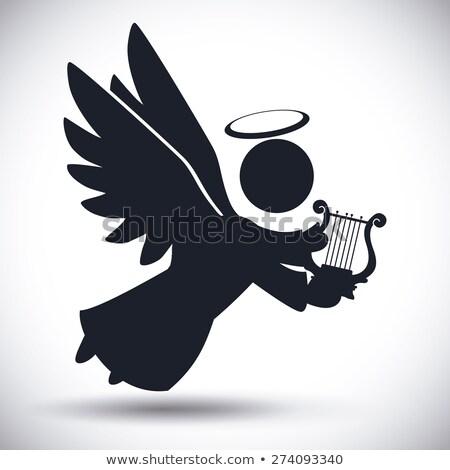 Angel Bird Silhouettes Stock photo © Alvinge