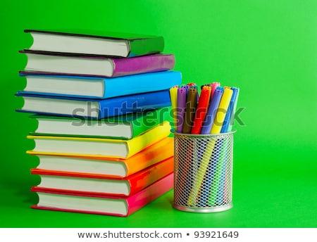 kleurrijk · boeken · stopcontact · pennen · groene - stockfoto © AndreyKr