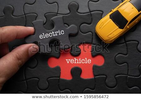 toekomst · woord · puzzel · stuk · Maakt · een · reservekopie · licht - stockfoto © ansonstock