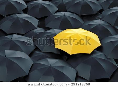 Yellow umbrella stock photo © RomanenkoAlex