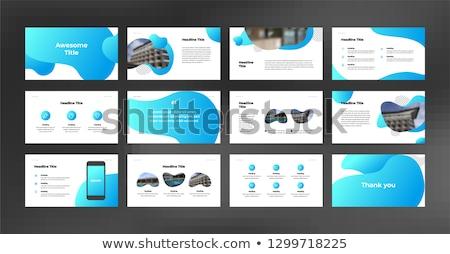 project in blue circles Stock photo © marinini