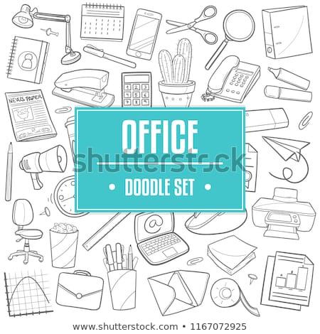 Stok fotoğraf: Ofis · araçları · üst · görmek · çok · kalemler