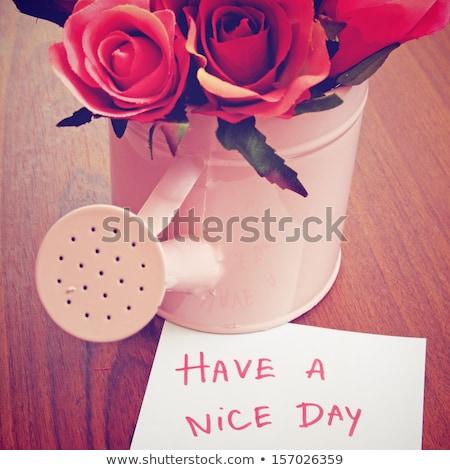 mooie · dag · kantoor · gelukkig · teken · contact - stockfoto © happydancing