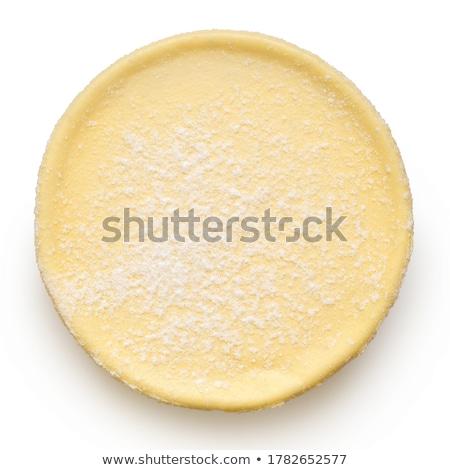 Cheesecake beyaz çatal parça kiraz Stok fotoğraf © stevemc