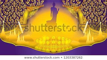 Thai religiosa pattern isolato bianco texture Foto d'archivio © smithore