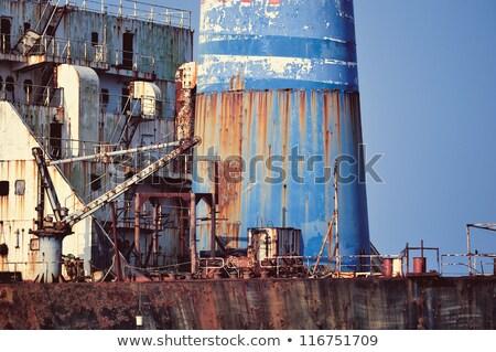 Iron ladder on a tanker ship  Stock photo © antonihalim