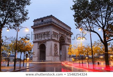 Triumphal Arch With Vintage Colors - Paris - France Stock photo © chrisroll