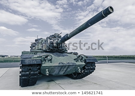 American Military Green Army Tank Stock photo © bobbigmac