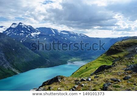 Норвегия · рюкзак · молодые · активный · человека · походов - Сток-фото © ildi