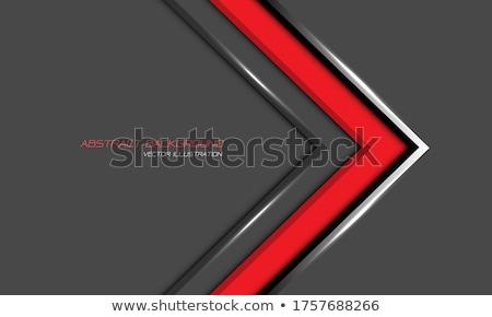 Gri kırmızı oklar beyaz iş kalabalık Stok fotoğraf © Ciklamen