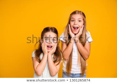 驚いた · 女の子 · 少女 · 幸せ · 目 · 子 - ストックフォト © photography33