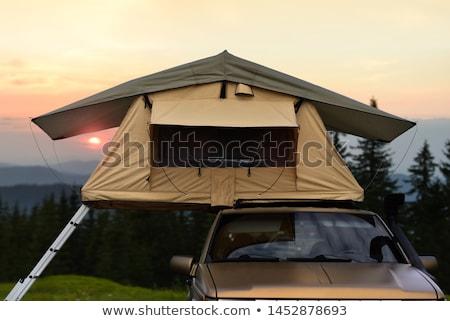 палатки кемпинга Австрия автомобилей спать Сток-фото © pumujcl