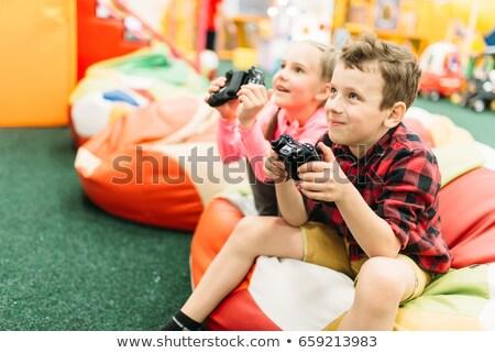 детей играет семьи телевидение счастливым Сток-фото © photography33