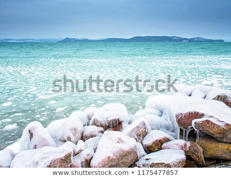 Balaton in winter Stock photo © samsem