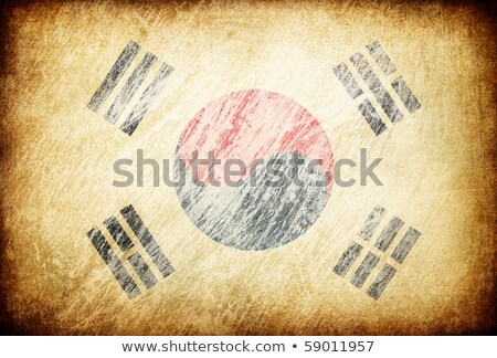 Grunge rubbed flag series of backgrounds. South Korea. Stock photo © pashabo