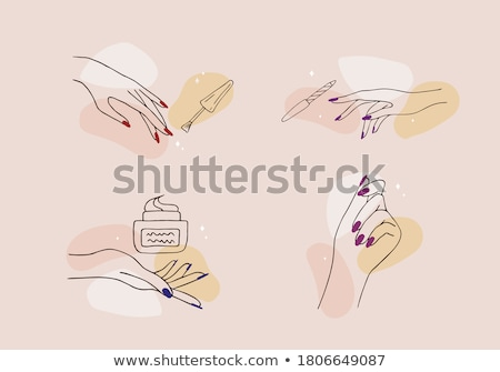 hand with nail art stock photo © ruzanna
