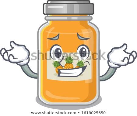 Komik reçel vektör karikatür gülen şişe Stok fotoğraf © pcanzo