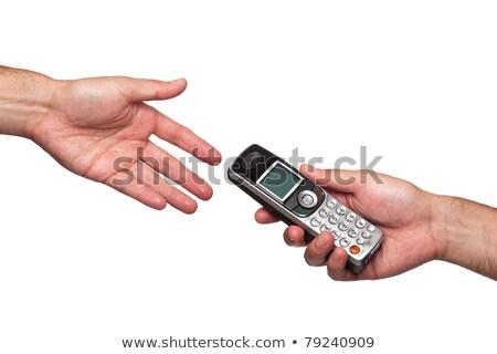 Stockfoto: Man · telefoongesprek · werk · telefoon · zakenman · contact