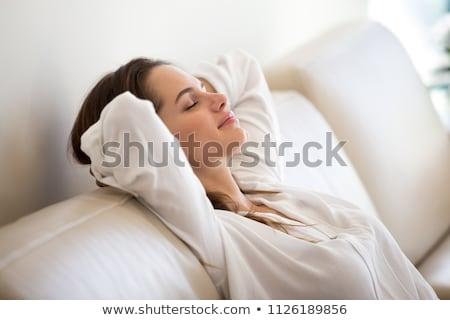 beautiful woman having a lazy day stock photo © stryjek