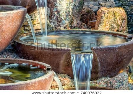 mały · wody · fontanna · domu · kwiat - zdjęcia stock © Ronen