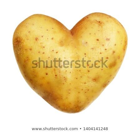 Coração batata branco comida amor Foto stock © red2000_tk