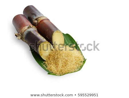 Wood Sugarcane Spoon with clipping path Stock photo © danny_smythe