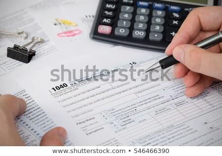 Stok fotoğraf: Us Tax Form 1040