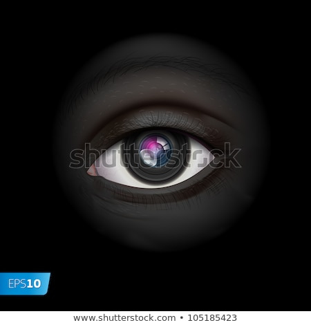 High-tech background with camera lens eye Stock photo © ikopylov