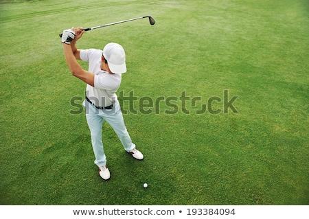 giovane · giocare · golf · piedi · campo - foto d'archivio © sumners