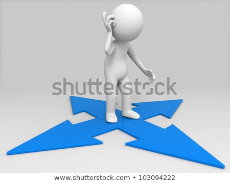 3D people walking on colorful arrows Stock photo © Quka