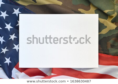 dog tags with an american flag stock photo © lightsource