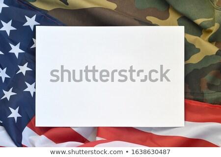 Psa amerykańską flagę dumny metal naszyjnik Zdjęcia stock © Lightsource