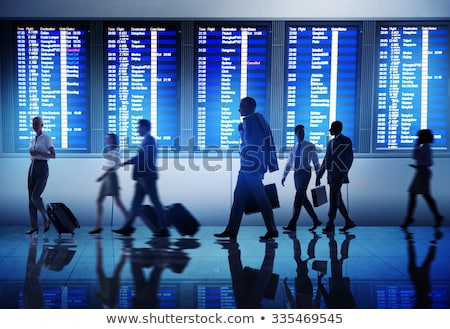 Business traveling international at the lounge Stock photo © Lightsource