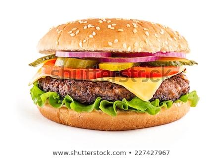 büyük · hamburger · cheeseburger · ekmek · akşam · yemeği - stok fotoğraf © ozaiachin