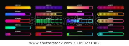 Download Upload Shiny Blue Button with Bars Stock photo © gubh83